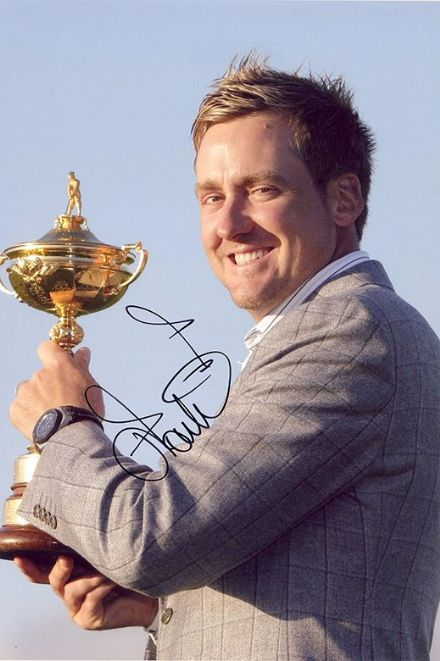 Ian Poulter, Ryder Cup, signed 12x8 inch photo.